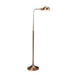 Kinetic Brass Adjustable Pharmacy Task Floor Lamp - Antique Brass
