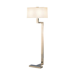 "Doughnut ""C"" Floor Lamp - Antique Silver"