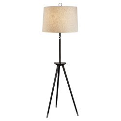 Jonathan Adler Ventana Floor Lamp - Ebonyed Wood w/Polished Nickel