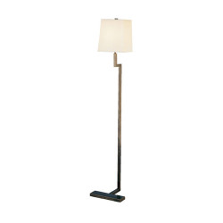 "Doughnut Mini ""C"" Floor Lamp - Deep Patina Bronze"