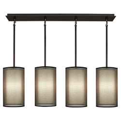 Saturnia Linear Chandelier - Deep Patina Bronze