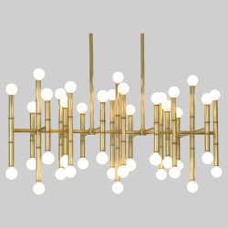 Jonathan Adler Meurice Rectangular Chandelier - Antique Brass