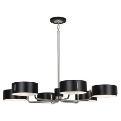 Simon Chandelier - Polished Nickel - Satin Black