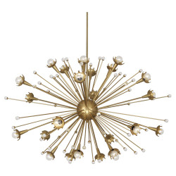 Jonathan Adler Sputnik Chandelier - Large - Antique Brass