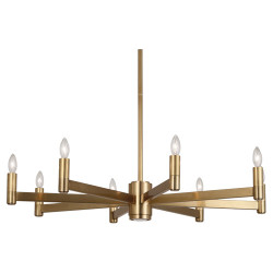 Delany Chandelier - Round - Antique Brass