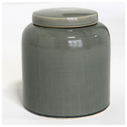 Ceramic Textured Jar with Lid - Set of 2