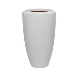 White Fiberglass Barrel - Large