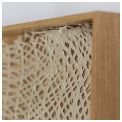 "50"" Shadow Box 'Curva Ellipse Paper' - natural frame"