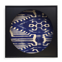Shadow Box - Ikat Blue Paper - Set of 2