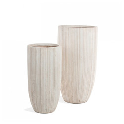 Linea Fiber Clay Medium Set of 2 Planters