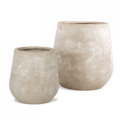 Urbano Bell Fiber Clay Set of 2 Planters