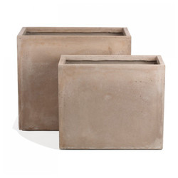 Urbano Rectangle Fiber Clay Set of 2 Planters