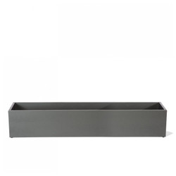 "Rectangle Planter 60""L - pewter"