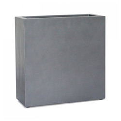 "Tall Rectangle Planter 30""H - pewter"