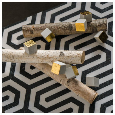 Birch Logs with Cube/ Pivot Wall Play Set of 3