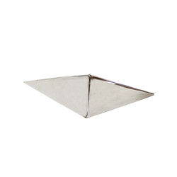 "Stainless Hexahedron 7.75""L - Set of 2"