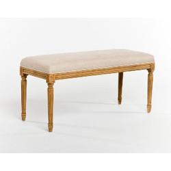 Lille Bench - Natural Linen and Natural Oak