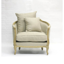 Maison Love Chair - Natural Linen and Natural Oak