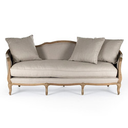 Maison Sofa - Natural Linen and Natural Oak