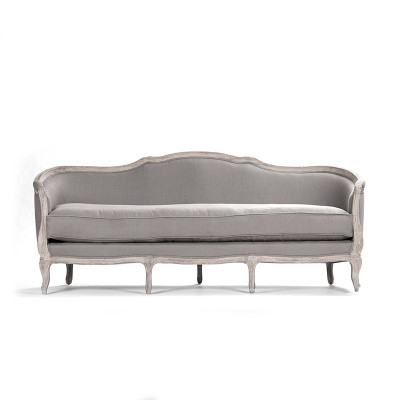 Maison Sofa - Grey Linen and Limed Grey Oak