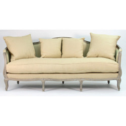 Maison Sofa - Hemp Linen and Limed Grey Oak with Jute Back