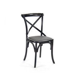 Parisienne Cafe Chair - Black Painted Oak
