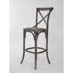 Parisienne Cafe Bar Stool - Limed Charcoal Oak
