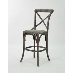 Parisienne Cafe Counter Stool - Limed Charcoal Oak