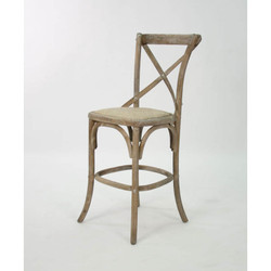 Parisienne Cafe Counter Stool - Limed Grey Oak