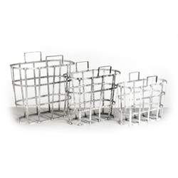 Metal Basket, Set Of 3 - Metal Basket with Holes