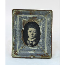 Antique Tin Picture Frame, Set Of 2