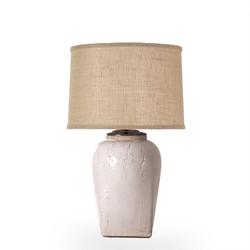 Crackle Lamp W/ Burlap Shade