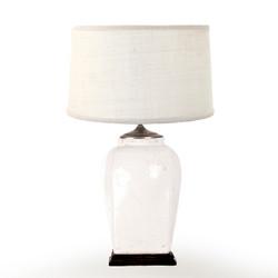 Cream Crack Lamp W/ Cream Shade