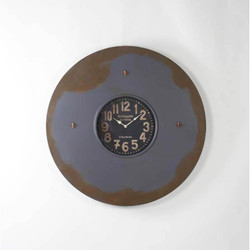 Paris Wall Clock W/Magnets - Dark