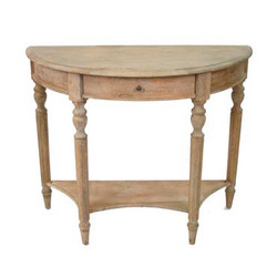 Demi Lune Wall Console - Natural