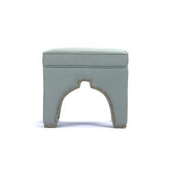 Marnix Cubic Stool - Sage Linen