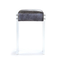 Acrylic Counter Stool - Silver Aztec
