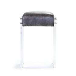Acrylic Counter Stool - Silver Aztec