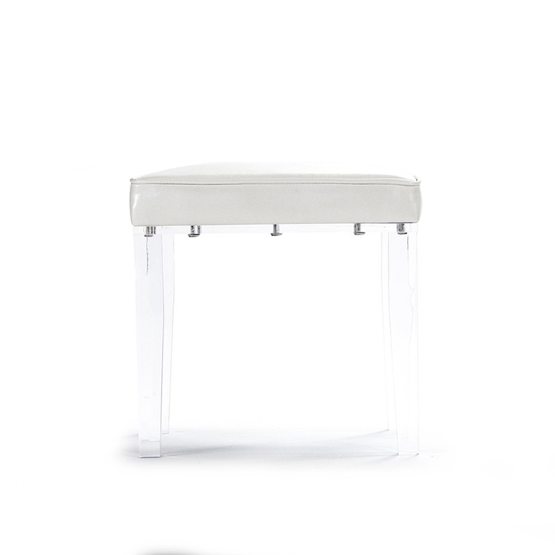 Prime Zentique Acrylic Vanity Stool White Pabps2019 Chair Design Images Pabps2019Com