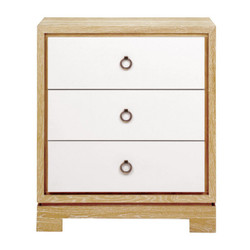 Berkeley 3-Drawer Side Table W/ Bronze Pulls, Natural