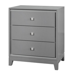 Bergamo 3-Drawer Side Table, Gray