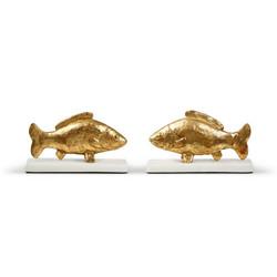 Carp Fish Statue, Gold