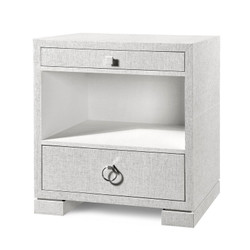 Frances 2-Drawer Side Table, White