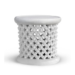 Kano Stool/Side Table, White