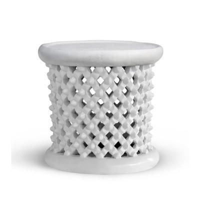 Kano Stool/Side Table, White