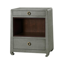 Ming 2-Drawer Side Table, Green