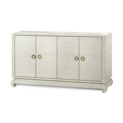 Meredith 4-Door Cabinet, Natural