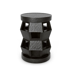 Zanzibar Stool/Side Table, Black