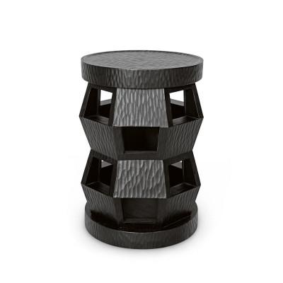 Zanzibar Stool/Side Table, Black