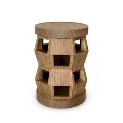 Zanzibar Stool/Side Table, Driftwood